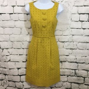 Jessica Simpson mustard eyelet dress